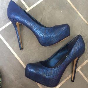 Steve Madden Napa pumps high heel blue